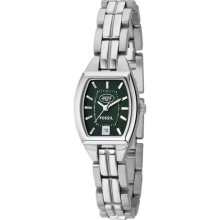 New York Jets watches : Fossil New York Jets Ladies Stainless Steel Analog Cushion Watch