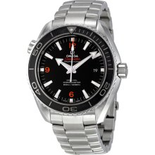 Omega Plant Ocean Big Size Black Dial Automatic Stainless Steel Mens Watch 23230462101003