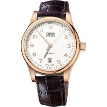 Oris 73375944891LS Watch Classic Date Mens - Silver Dial Stainless Steel Case Automatic Movement
