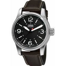 Oris 73376294063LS Watch Aviation Big Crown Mens - Black Dial Stainless Steel Case Automatic Movement