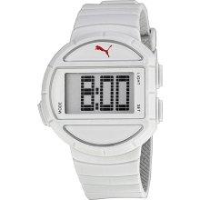 Puma Half Time Grey Digital White Polyurethane Mens Watch PU910892001