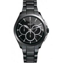 Rado Hyperchrome Automatic Chronograph White 45mm Watch - White Dial, White Ceramic Bracelet R32274012 Sale Authentic