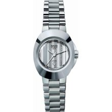 Rado Original Jubile Auto Mini 34 x 27mm Watch - Blue Dial, Stainless Steel Bracelet R12698703 Sale Authentic