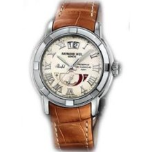 Raymond Weil Parsifal Automatic Cream Dial Stainless Steel Mens Watch 2843-STC-00808