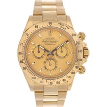 Rolex 18k Yellow Gold Cosmograph Daytona Men's Watch 116528 Gold Dial