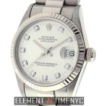 Rolex Datejust President Midsize 18k White Gold Circa 1999