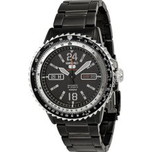 Seiko 5 Sport Automatic Black Dial Black Pvd Stainless Steel Mens Watch Srp355