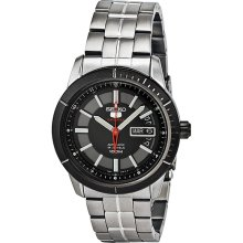 Seiko 5 Sports Automatic Black Dial Stainless Steel Mens Watch SRP341