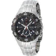 Seiko SNAD35 Silver-Tone Sport Alarm Chronograph Men's Watch