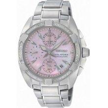 Seiko Velatura Chronograph Diamond Ladies Watch SNDZ37 ...