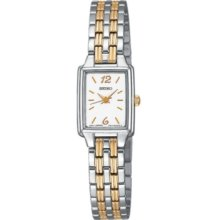 Seiko Watch, Womens Two-Tone Stainless Steel Bracelet 24mm SXGL59