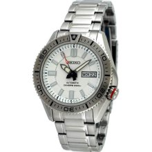 Stainless Steel Superior Diver Automatic White Dial