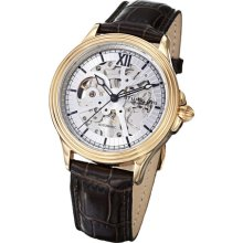 Stuhrling Original 167 3335k2 Mens Classic Automatic Skeleton Leather Watch