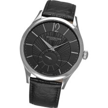 Stuhrling Original Mens 171c 33151 Classic Cuvette Soleil Automatic Black Watch