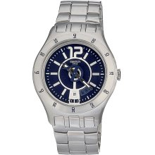 Swatch Men's Stainless Steel Blue Dial Watch (Swatch Men's Stainless Steel Blue Dial Date Watch)