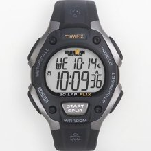 Timex Ironman Gray And Black Digital Chronograph Triathlon Watch