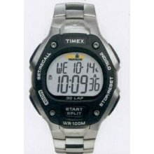 Timex Ironman Stainless Steel Traditional 30 Lap Full-size Watch