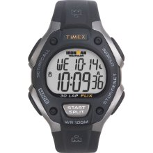 Timex Mens 30-Lap Ironman Watch with Black Resin Band