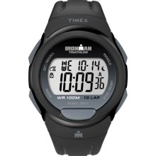 Timex Men's T5K608 Ironman Traditional 10-Lap Black Watch (Timex Ironman Traditional 10-Lap T5K6089J)