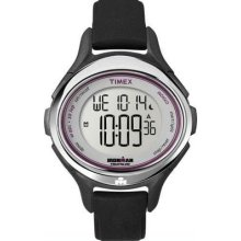 Timex Womens Ironman Triathlon All Day Sleek 50 Lap Chronograph Black Watch