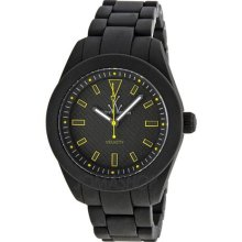Toy Watch Mens Toy2Fly Analog Plasteramic Watch - Black Rubber Strap - Black Dial - TTF07BKTQ