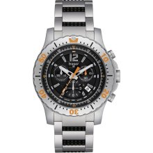 Traser Mens Extreme Sport Chronograph Stainless Watch - Silver Bracelet - Black Dial - P6602.R53.0S.01