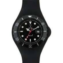 Unisex Toy JTB02BK Jelly Black Plastic Resin Case Black Dial Sil ...