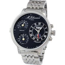 Used Mens Automatic Temperature Humidity Stainless Steel Wrist Watch G-mnziassb