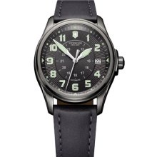 Victorinox 241518 Watch Infantry Mens - Black Dial Stainless Steel Case Automatic Movement