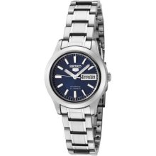 Womens SYMD93 Seiko 5 Automatic Blue Dial Steel Watch ...
