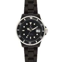 Women's toywatch plasteramic mini black watch. fls01bk