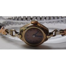 1939 Bulova Ladies Gold 17Jwl Swiss Made Copper Dial Watch