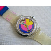 1993 Vintage Automatic Swatch Watch Happy Wheels Sak109