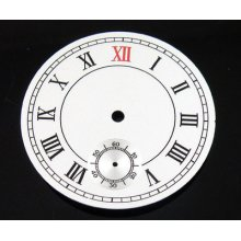 38.9mm White Numberals Dial Fit Eta 6498 Or Seagull Movement P100