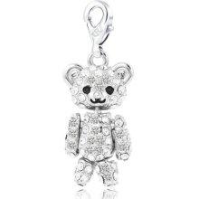 5pcs Wholesale Lot Children Jewelry Sale Bear Shape White Topaz Fashion Charms