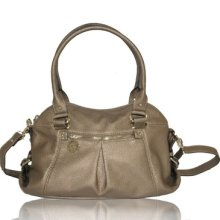 A/k Anne Klein Trinity Metallic Bronze Gold Satchel Bag