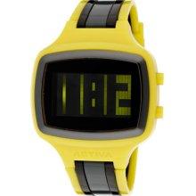 Activa Watches Digital Yellow Black & Charcoal Plastic Yellow Black &