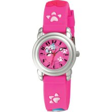 Activa Women's Case Pink Dial Gold Tone Mineral Glass Watch Sv647-003