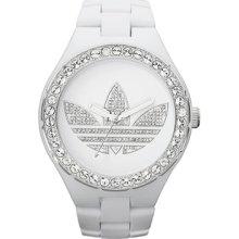 Adidas Unisex Melbourne ADH2761 White Plastic Quartz Watch with White