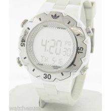 Adidas Women's Adh1768 Wooster White Rubber Strap Digital Quartz Watch