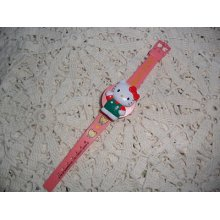 Adorable Pink Vintage Hello Kitty Watch Just Too Cute Not In Working Condition