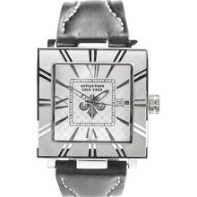 Affliction - STEEL/SILVER UNISEX LRG SQUARE WATCH by Affliction, OS