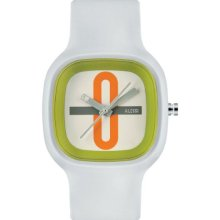 Alessi Unisex Automatic Watch With White Dial Analogue Display And White Plastic Or Pu Bracelet Al10021