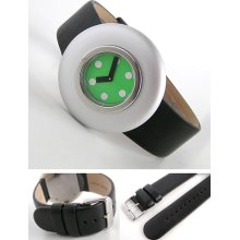 Alessi Watch: Ettore Sottsass Ciclo Bicycle Dial Green