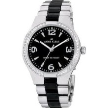 Anne Klein Swarovski Crystal Ceramic Ladies Watch 10-9119BKSV