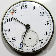 Antique 17 1/2 Lignes Bulova 7j 3adj. Pocket Watch Movement