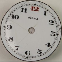 Antique Ladies Diana Porcelain Watch Dial 23mm