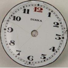 Antique Ladies Diana Porcelain Watch Dial 23mm