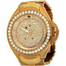 Aqua Master Diamond Rose Gold Automatic Swiss Movement Mens Watch 7.25ct. W-102d