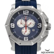 Aquaswiss Vessel Chronograph Men's Watch Silver/blue